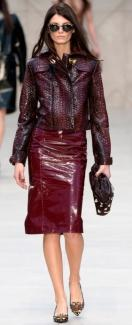 Мода осень 2013 – кожа