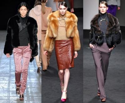 Модные куртки 2012 - Изделия из меха