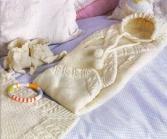 Как связать конверт для новорожденного