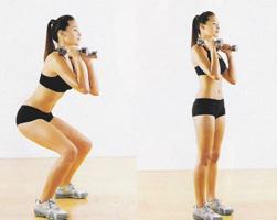 Упражнения против целлюлита - Приседания