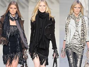 Зимняя мода 2012: шарфы