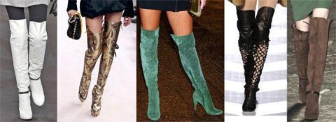 Мода 2012: женские сапоги