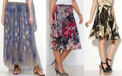 Модные юбки 2011 - материал