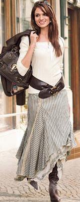 Молодежная мода 2011 - юбки-макси