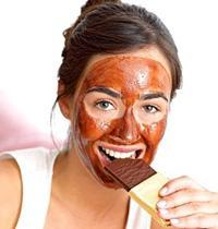 Очищающая маска для лица из шоколада