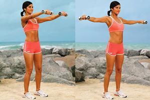Упражнения с гантелями - упражнение для мышц спины